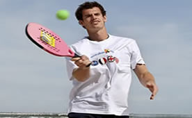 Andy Murray on the beach